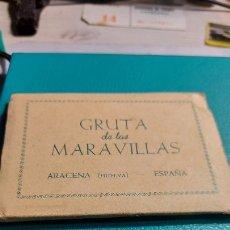 Postales: GRUTA DE LAS MARAVILLAS ARCENA -HUELVA- 10 FOTOS DEL INTERIOR DE LAS GRUTAS POR EL AYUNTAMIENTO 1956. Lote 240517855