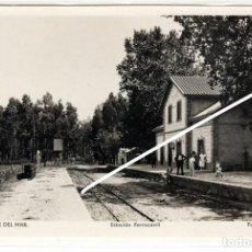 Postales: PRECIOSA POSTAL FOTOGRAFICA - TORRE DEL MAR (MALAGA) - ESTACION FERROCARRIL. Lote 241771695