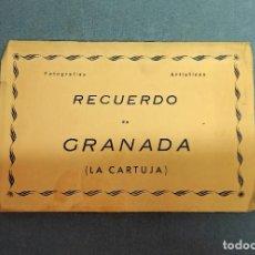 Postales: ANTIGUO ESTUCHE DE 10 POSTALES EN ACORDEON DE GRANADA LA CARTUJA EDICIONES ARRIBAS. Lote 243976680