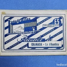 Postales: ANTIGUO ESTUCHE DE 10 POSTALES COLOROEADAS EN ACORDEON DE GRANADA LA ALHAMBRA EDICIONES SICILIA. Lote 243978325