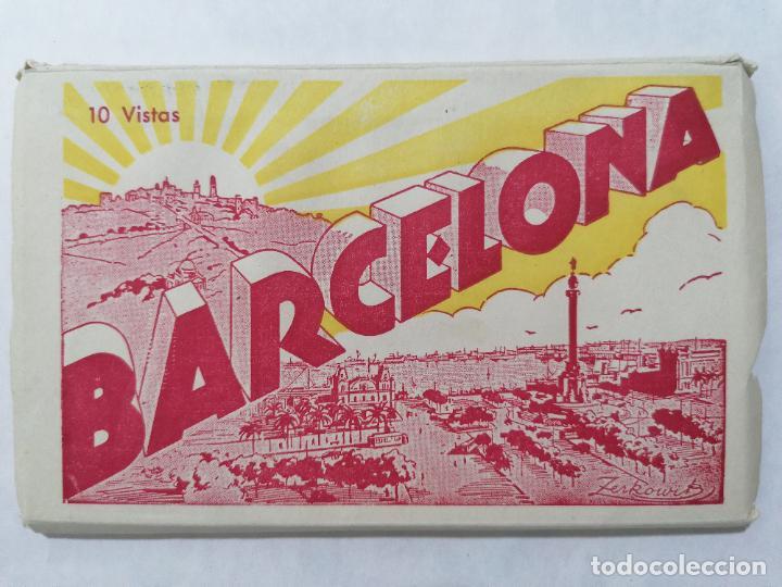 BLOQUE 10 VISTAS BARCELONA, (Postales - España - Andalucia Moderna (desde 1.940))