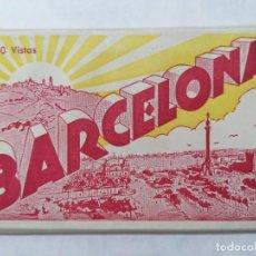 Postales: BLOQUE 10 VISTAS BARCELONA,. Lote 244467230