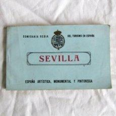 Postales: TACO 12 POSTALES DE SEVILLA COMISARIA REGIA DEL TURISMO EN ESPAÑA, ARTÍSTICA, MONUMENTAL PINTORESCA. Lote 244510670
