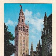Postales: POSTAL CATEDRAL Y LA GIRALDA. SEVILLA (1963). Lote 244611800