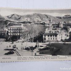 Postales: 798 GRANADA PUERTA REAL Y SIERRA NEVADA DESDE PAPELERÍA CONTINENTALES L. ROISIN.. Lote 245008000