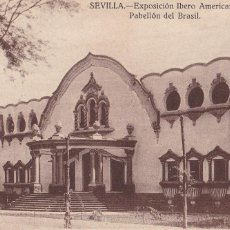 Postales: SEVILLA, EXPOSICION IBERO AMERICANA. ED. J.B.G. PABELLON DE BRASIL. SIN CIRCULAR. Lote 245078415
