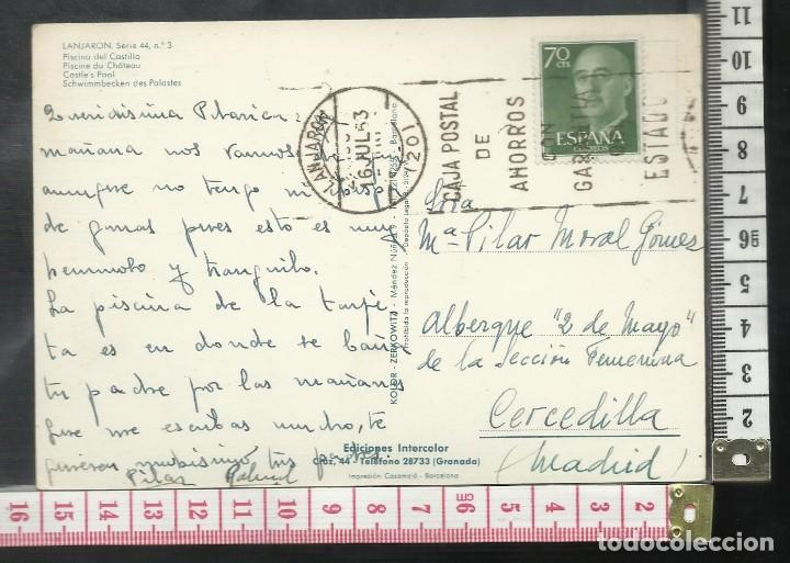 Postales: ST 349 LANJARON PISCINA DEL CASTILLO GRANADA EDICIONES KOLOR ZERKOWITZ 3 AÑO 1963 - Foto 2 - 245736585