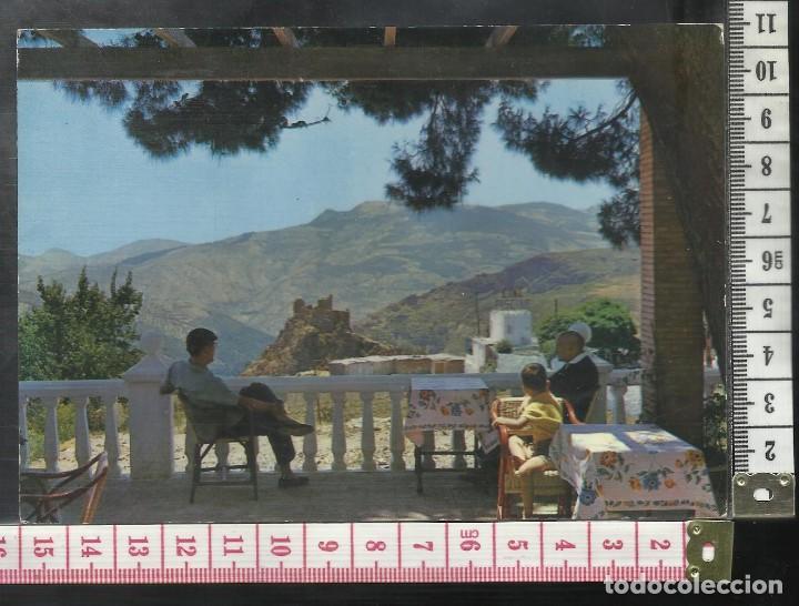 ST 350 LANJARON CASTILLO HOTEL ANDALUCIA CINE PISCINA GRANADA EDICIONES KOLOR ZERKOWITZ 15 AÑO 1963 (Postales - España - Andalucía Antigua (hasta 1939))