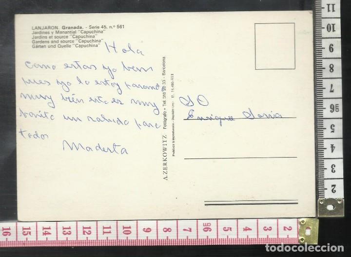 Postales: ST 353 LANJARON JARDINES Y MANANTIAL CAPUCHINA GRANADA EDICIONES A. ZERKOWITZ 561 AÑO 1965 - Foto 2 - 245737305