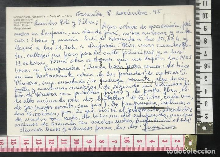 Postales: ST 357 LANJARON CALLE PRINCIPAL GRANADA AÑO 1965 - Foto 2 - 245737780