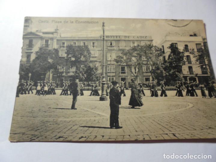 MAGNIFICA ANTIGUA POSTAL DE CADIZ PLAZA DE LA CONSTITUCION (Postales - España - Andalucía Antigua (hasta 1939))