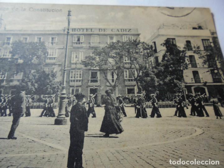 Postales: magnifica antigua postal de cadiz plaza de la constitucion - Foto 2 - 247779340