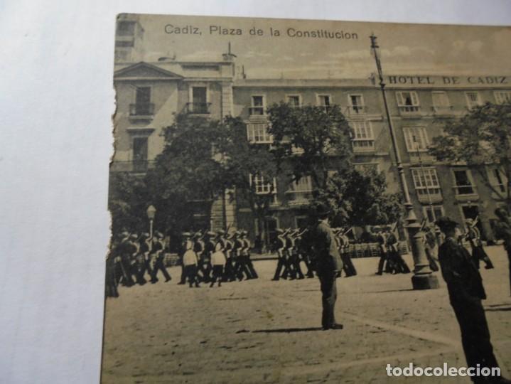 Postales: magnifica antigua postal de cadiz plaza de la constitucion - Foto 3 - 247779340