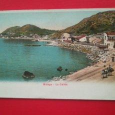 Postales: MÁLAGA, LA CALETA. MUY BONITA, COLOREADA.. Lote 247317210