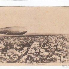 Postales: GRAN LOTE 17 POSTALES. SEVILLA, L. ROISIN. ZEPPELIN DIRIGIBLE JUNTO A LA GIRALDA. SIN CIRCULAR AA. Lote 252197995