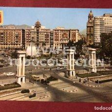 Postales: POSTAL MALAGA, ENTRADA AL PUERTO Y PLAZA DE LA MARINA, AÑO 1967. Lote 254462095