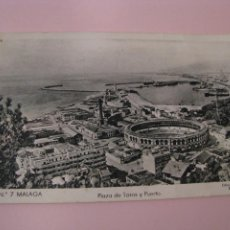 Cartes Postales: POSTAL DE MALAGA. PLAZA DE TOROS Y PUERTO. ED. MARÇAY. Nº 7.. Lote 254820575