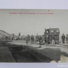Postales: FOTO POSTAL DE LINARES, JAEN, MINAS DE ARRAYANES. UN TREN DE MINERAL. COLECCION A. MARTIN, NO CIRCUL. Lote 257330915