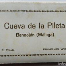 Postales: BENAOJAN MALAGA CUEVA DE LA PILETA ACORDEON 10 POSTALES. Lote 257395935