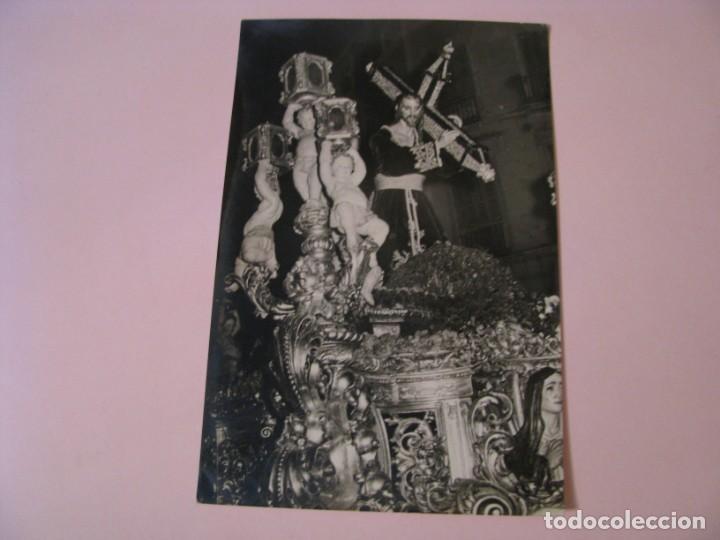 POSTAL FOTOGRÁFICA DE MÁLAGA. SEMANA SANTA. 1959. JESUS NAZARENO DEL PASO. (Postales - España - Andalucia Moderna (desde 1.940))