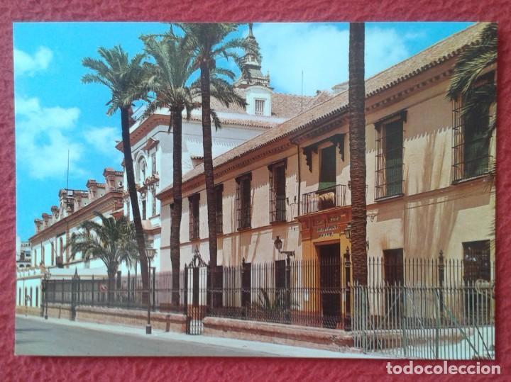 POST CARD CARTE POSTALE SPAIN ESPAGNE DE SEVILLA FACHADA DEL HOSPITAL DE LA SANTA CARIDAD PALMERAS.. (Postales - España - Andalucia Moderna (desde 1.940))