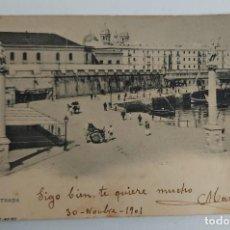 Postales: ANTIGUA POSTAL DE CADIZ - LA ENTRADA - AÑO 1901 - HAUSER Y MENET -. Lote 261156770