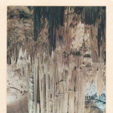 Postales: POSTAL GRAN COLUMNA DE LA SALA DEL CATACLISMO. CUEVA DE NERJA. MALAGA (1964). Lote 261294985
