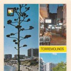 Postales: POSTAL FUENTE DE LA SALUD. CALLE CAUCE. AVDA. MANANTIALES. TORREMOLINOS. MALAGA (1968). Lote 261297095