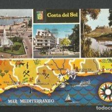 Postales: POSTAL CIRCULADA COSTA DEL SOL 202 EDITA ESCUDO DE ORO. Lote 261585100