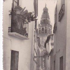 Postales: CORDOBA, CALLE TIPICA Y TORRE DE LA CATEDRAL. ED. GARRABELLA Nº 89. SIN CIRCULAR. Lote 261838330