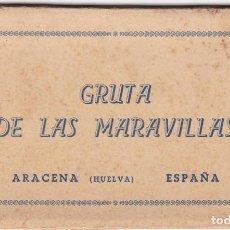 Postales: HUELVA ARACENA GRUTA DE LAS MARAVILLAS. BLOC COMPLETO EN ACORDEON CON 10 POSTALES. ED. AYUNTAMIENTO. Lote 261999435