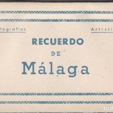 Postales: RECUERDO DE MALAGA. BLOC COMPLETO CON 10 POSTALES FOTOGRAFICAS. ED. ARRIBAS. Lote 262000885