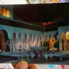 Postales: POSTAL GRANADA ALHAMBRA ILUMINADA PATIO DE LOS LEONES SERIE 45 N 87 ZERKOWITZ 1969 ESCRITA Y SELLADA. Lote 262606600