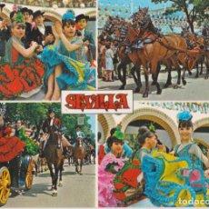 Postales: SEVILLA, FERIA DE ABRIL – ED. BEASCOA Nº588 – CIRCULADA. Lote 262609505