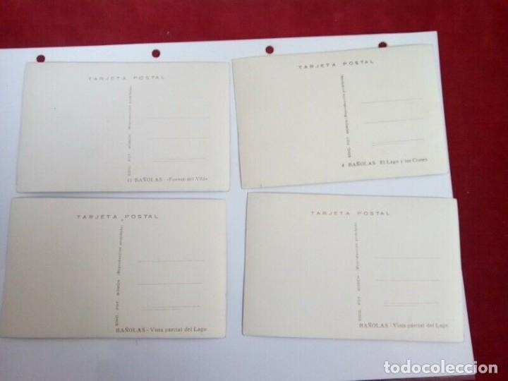 Postales: BAÑOLAS LOTE DE 4 POSTALES ANTIGUAS BLANCO Y NEGRO - Foto 4 - 262855840