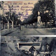 Postales: DOS POSTALES DE MALAGA CIRCULADAS,FRANQUEADAS Y ESCRITAS-VER FOTO ADICIONAL REVERSO .. Lote 263128135