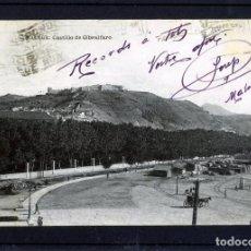 Postales: POSTAL DE MALAGA-CASTILLO DE GIBRALFARO-EDICIÓN FIN DE SIGLO-CIRCULADA,FRANQUEADA Y ESCRITA -. Lote 263129360