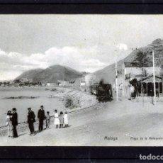 Postales: POSTAL DE MALAGA-PLAYA DE LA MALAGUETA-EDICION VIUDA FERRER(PAPELERIA CATALANA)-NUEVA NO CIRCULADA.. Lote 263129960