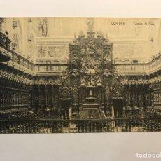 Postales: CORDOBA. POSTAL CÁTEDRAL. EL CORO, FOTOTIPIA M. GONZALEZ (H.1930?) S/C. Lote 263218880