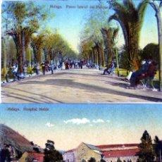 Postales: DOS POSTALES DE MALAGA-IMPRESAS A COLOR-VER FOTOS ADIONALES REVERSO-LEER DESCRIPCIÓN.. Lote 264505444
