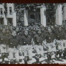 Postales: FOTOGRAFIA DE JAEN, VISITA DEL GENERAL FRANCO, AÑOS 40, DESFILE, FOTO ZEGRI, MADRID, MIDE 11 X 8 CM. Lote 264856864