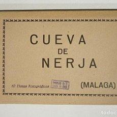 Postales: ACORDEON DE ANTIGUAS 10 VISTAS FOTOGRÁFICAS CUEVAS DE NERJA - MALAGA. Lote 266605268