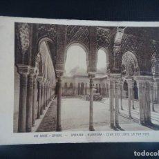 Cartoline: ANTIGUA POSTAL DE GRANADA, ALHAMBRA, EDICIÓN FRANCESA, VER FOTOS. Lote 266780714