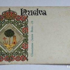 Postales: POSTAL PUBLICITARIA CHOCOLATES JAIME BOIX. ESCUDO HUELVA.. Lote 267100679