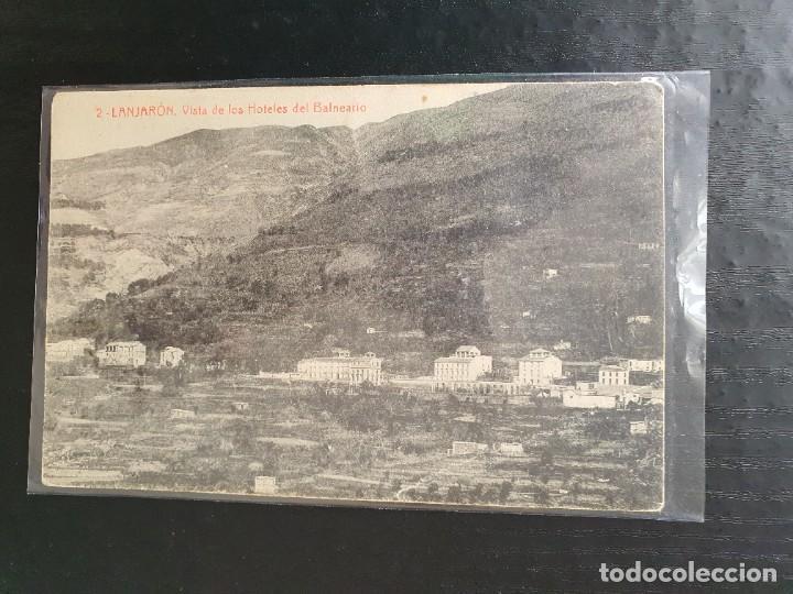 Nº 2. LANJARÓN. GRANADA. VISTA DE LOS HOTELES DEL BALNEARIO (Postales - España - Andalucía Antigua (hasta 1939))
