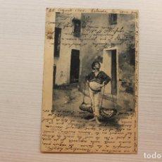 Postales: POSTAL MÁLAGA, VENDEDOR DE PESCADO, L. TALAVERA. Lote 268940564