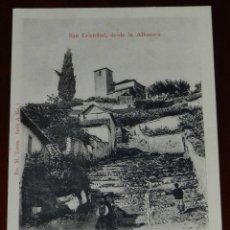 Postales: POSTAL DE GRANADA, ALBAICIN, SAN CRISTOBAL, DESDE LA ALHACAVA, FOT. M. TORRES, SERIE A Nº7, NO CIRCU. Lote 269339728