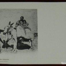 Postales: POSTAL DE GRANADA, GRUPO DE GITANOS (ANDALUCIA), FOT. LAURENT, SIGLO XIX SERIE B Nº 63, SIN CIRCULAR. Lote 269414783