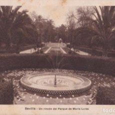 Postales: SEVILLA, UN RINCON DEL PARQUE DE MARIA LUISA - H.MUMBRÚ - ESCRITA 1938. Lote 270380638
