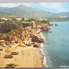 Postales: TARJETA POSTAL DE NERJA - PLAYA DE LA CALAHONDA. GARCIA GARRABELLA Nº 3.ESCRITA. Lote 270551673